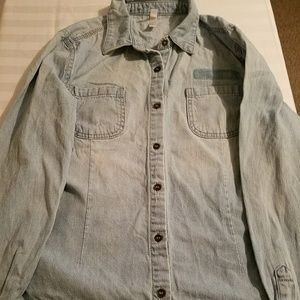 target great condition jean shirt